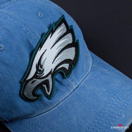 Philadelphia Eagles emblem patch on a cap