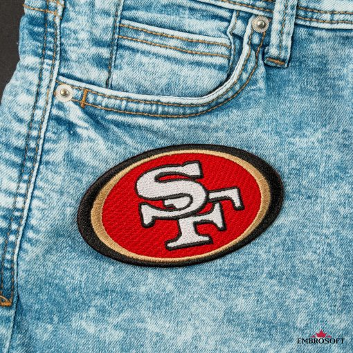San Francisco ers logo embroidery NFL for jeans jackets