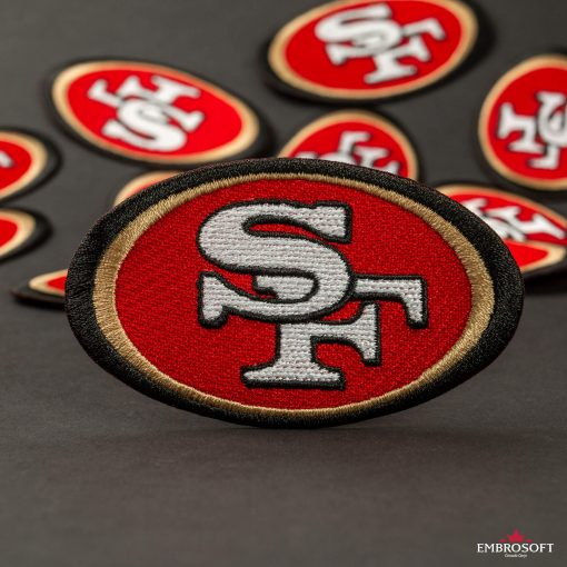San Francisco ersfootball team emblem embroidered patches makro