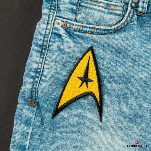 Star Trek Logo Embroidered patch Starship insignia for back jeans pocket