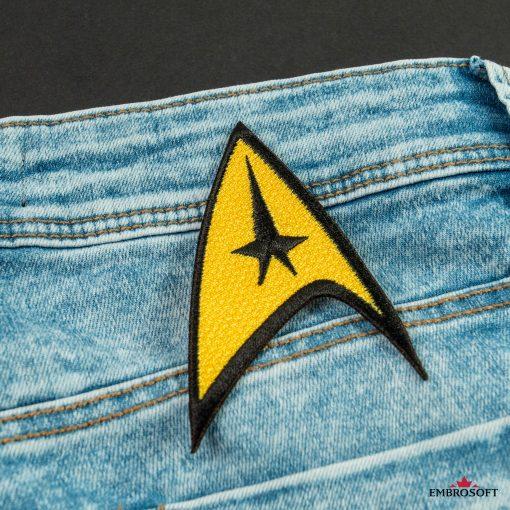 Star Trek Logo Embroidered patch TV series emblem for back jeans