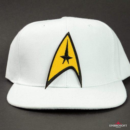 Star Trek Logo Embroidered patch TV series emblem on a white cap