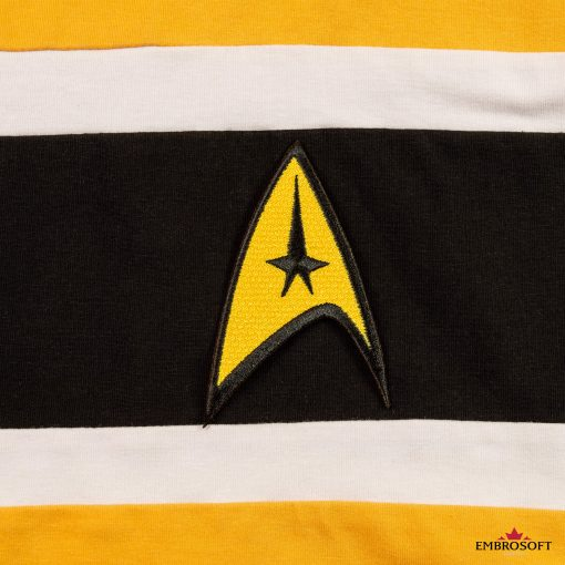 Star Trek Logo Embroidered patch TV series emblem on a yellow hoody