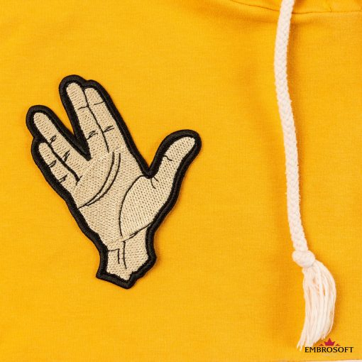 Star Trek Spock Ok hand embroidered patch for clothes and jacket sleeves