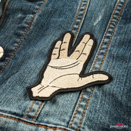 Star Trek Spock Ok hand embroidered patch for jeans jackets