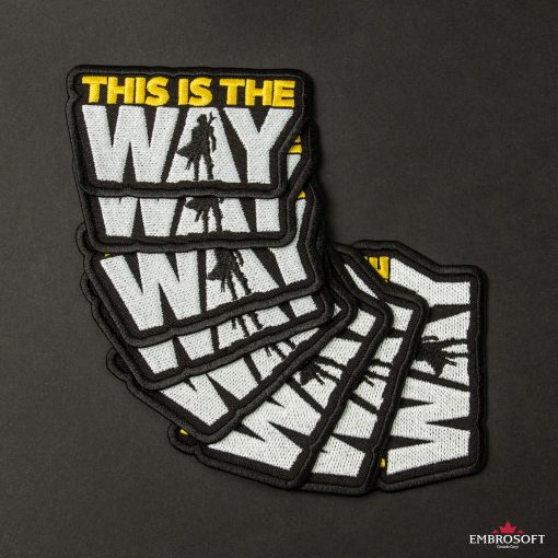 Star Wars The Mandalorian This is the way embroidered patch
