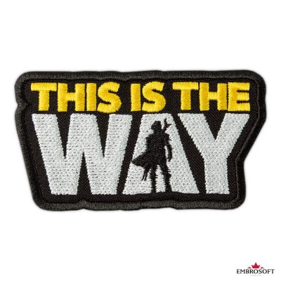 Star Wars The Mandalorian This is the way embroidered patch for clothes