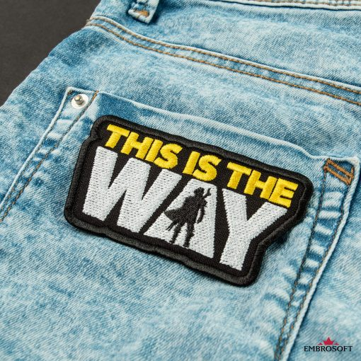 Star Wars The Mandalorian This is the way morale patch for jeans back pocket