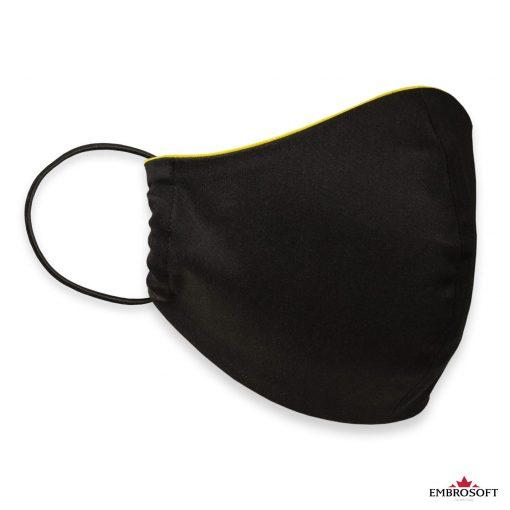 Black custom face mask
