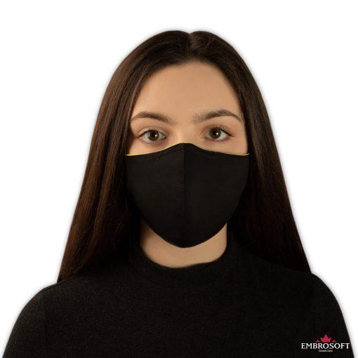 Black face mask model girl