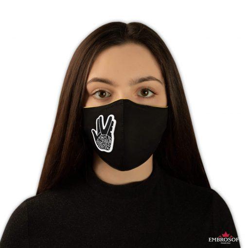 Black mouth mask Star Trek Spock Ok embroidered for girl