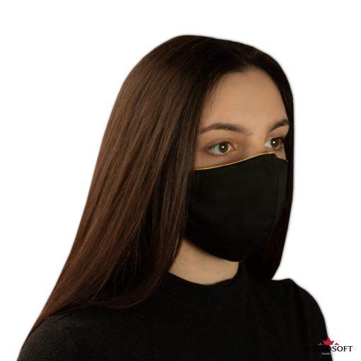 Black mouth mask model girl right