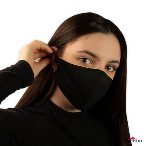 Black reusable mask for girl