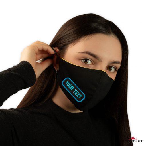 Black tilted mask custom emblem model girl