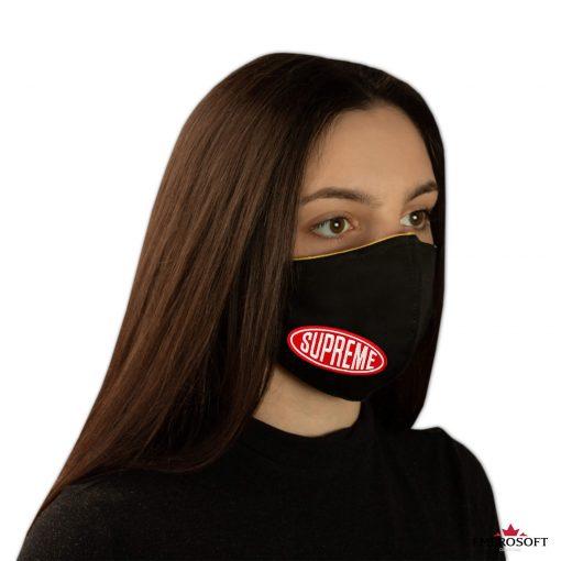 Black travel mask supreme unisex