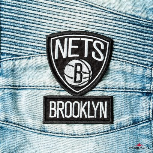 Brooklyn Nets NBA jeans patch embroidery