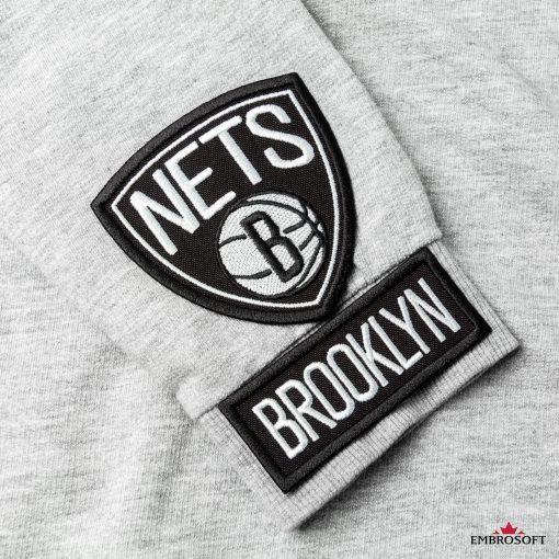 Brooklyn Nets NBA sleeve patch gray jacket
