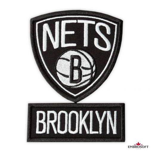 Brooklyn Nets NBA team emblem patches frontal
