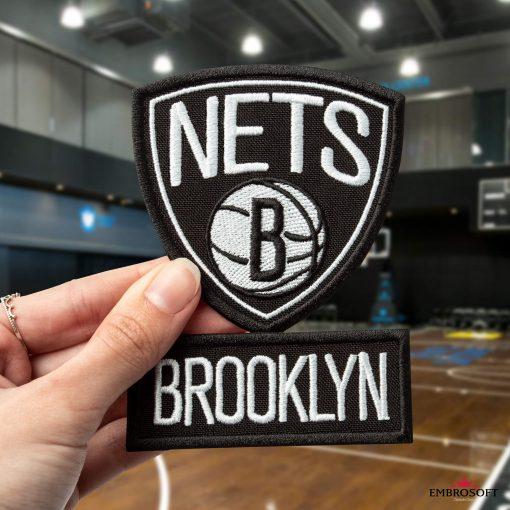 Brooklyn Nets NBA team logo patch stadium