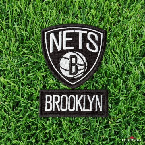 Brooklyn Nets NBA team sports embroidered patches grass