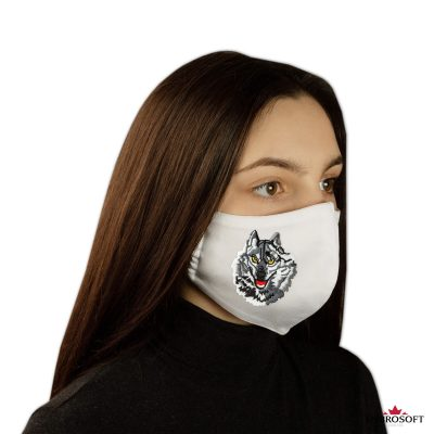 Embroidered white mask wolf patch for girls and boys