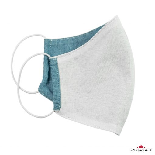Jeans mouth mask inner side reusable