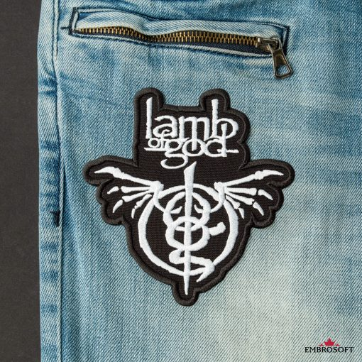 Lamb of God Wrath patches for clothes front pocket jeans