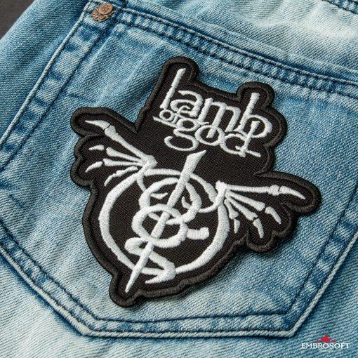 Lamb of God Wrath rock band embroidery back pocket jeans