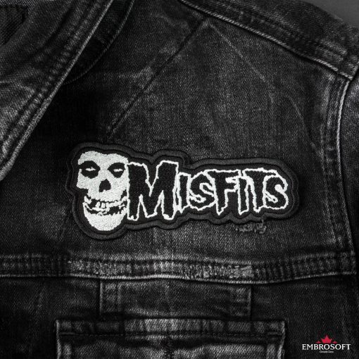 Misfits horizontal jeans jacket patches
