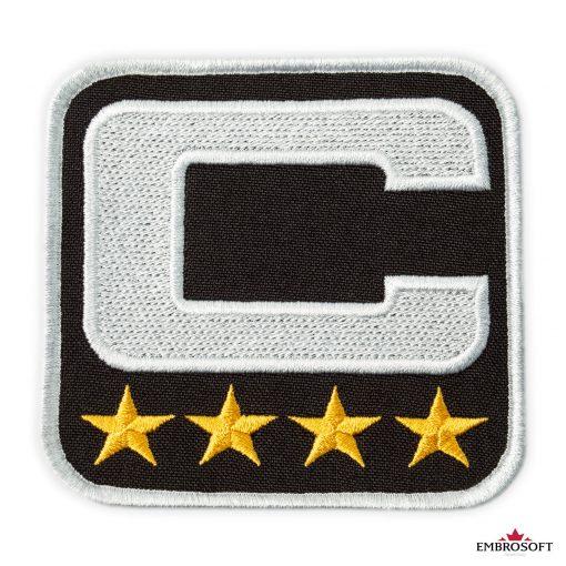 NFL Captain embroidered emblem patch frontal