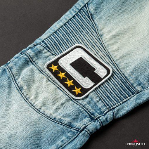NFL Team Captain embroidered emblem C jeans