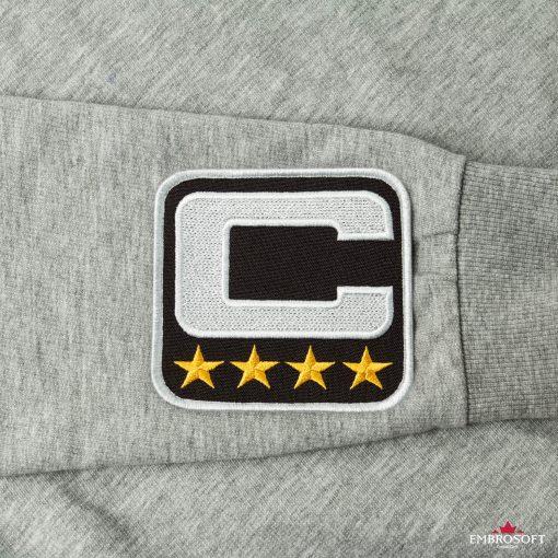 NFL Team Captain football patches sleeve gray jacket