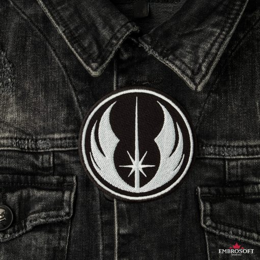 Star Wars Jedi Order Logo embroidered on a jeans jacket