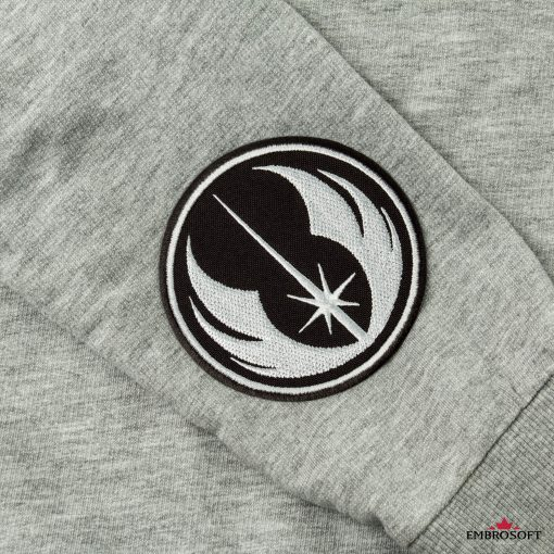 Star Wars Jedi Order Logo embroidery for clothes sleeve gray hoody