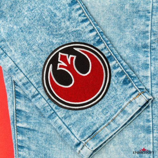 Star Wars Rebel Alliance Embroidered emblem on jeans