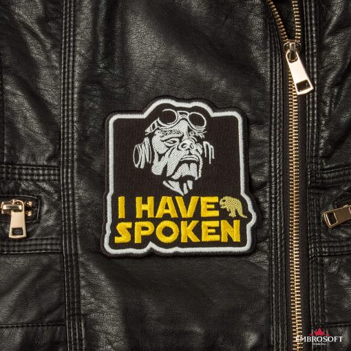 Star Wars The Mandalorian I have spoken Leather Jacket embroidery