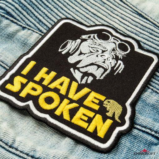 Star Wars The Mandalorian I have spoken character patch jeans
