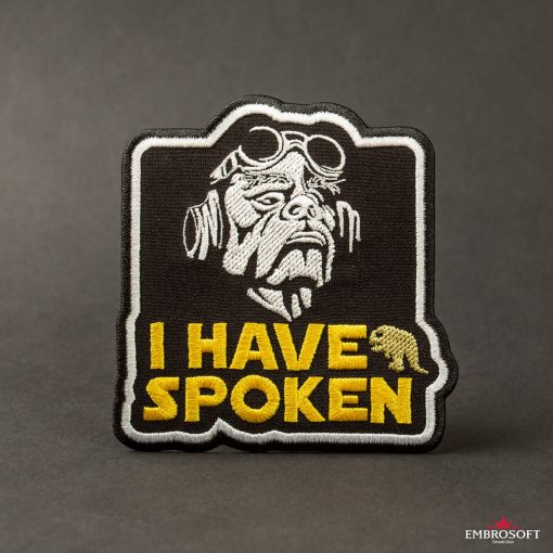 Star Wars The Mandalorian I have spoken embroidered patches black background