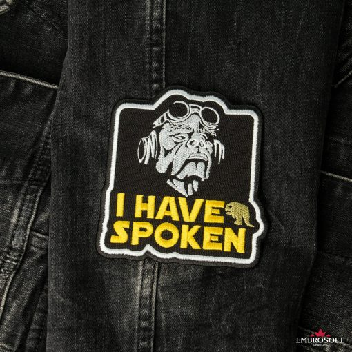 Star Wars The Mandalorian I have spoken patches jeans Jacket