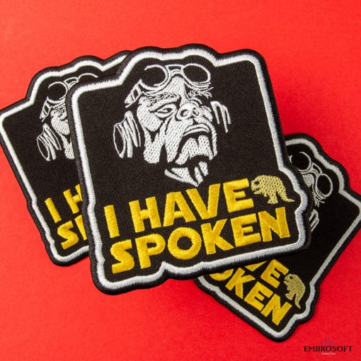 Star Wars The Mandalorian I have spoken premium patches red background