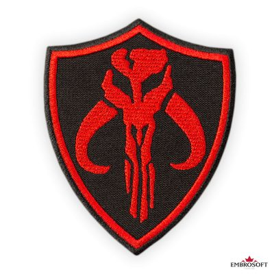 Star Wars The Mandalorian Red Emblem embroidered patches frontal