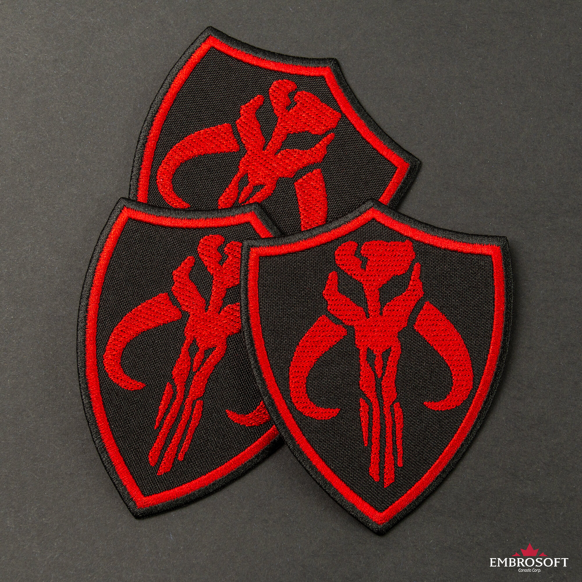 Mandalorian Skull Embroidered Iron-on Patch