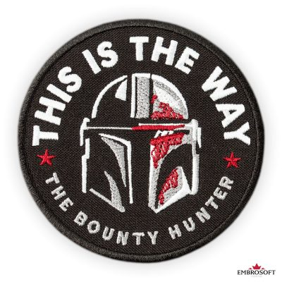 Star Wars The Mandalorian This is The Way patches for clothes The Bounty Hunter frontal