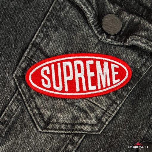Supreme cool patch pocket jeans jacket