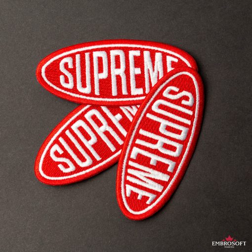 Supreme sports patches black background