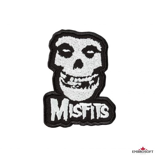The Misfits ghost skull patch frontal small