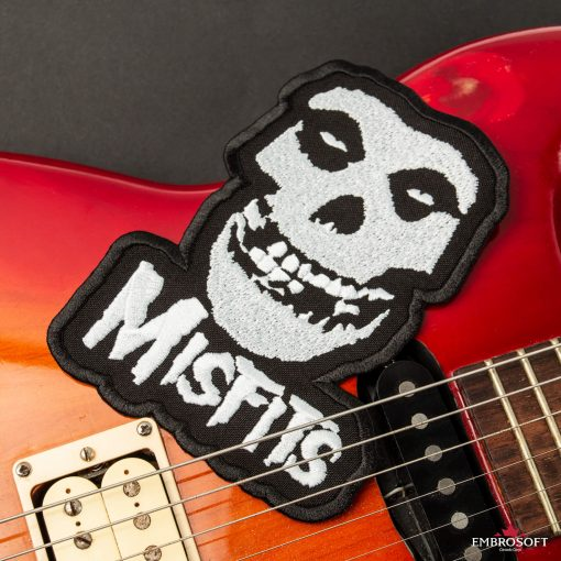 The Misfits horror ghost skull patch witg guitar