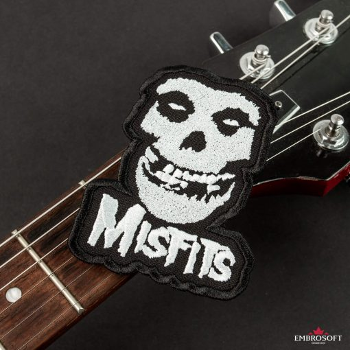 The Misfits rock patches with guitar neck