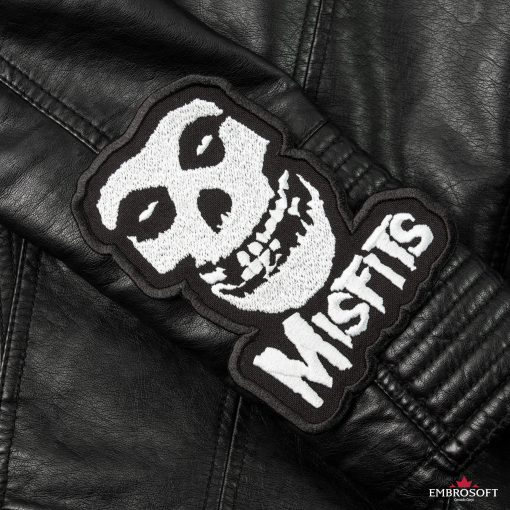 The Misfits sleeve leather jacket patches