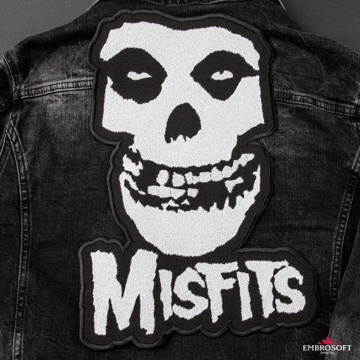 The misfits large back jeans jacket patch